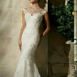 Bling and lace mermaid gown